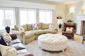 Curved Sofa Designs by Decor Round Upholstered Ottoman Coffee Table And Curved Sofa With