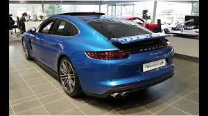 blue porsche panamera 2017 all new 2017 a porsche panamera 4s twin turbo v6 interior and