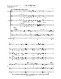 the lord u0027s prayer bird melvin clive imslp petrucci music