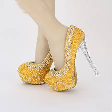 pearl wedding shoes handmade popular yellow green color pearl wedding shoes bridal