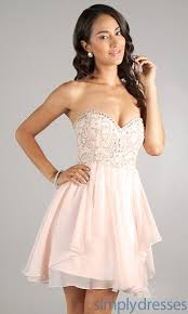 strapless party dress babydoll short prom dress simply dresses