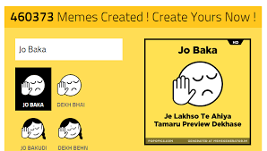 List Of All Memes - best jo baka jo bakudi dekh bhai memes generator websites and apps