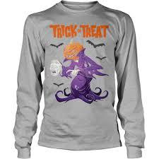 trick treat zombie halloween sweatshirt
