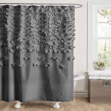 Ruffled Shower Curtains Ruffle Shower Curtain Pertaining To Grey Designs 1 Sougen Info