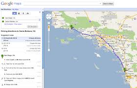Santa Barbara California Map Measuring Distance Between Two Points On Google Maps Using