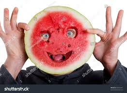 watermelon mask human eyes halloween isolated stock photo 62057545