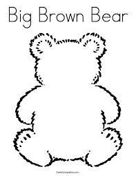 going on a bear hunt coloring pages big brown bear coloring page twisty noodle