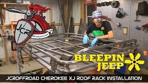 cartoon jeep cherokee jcroffroad cherokee xj modular roof rack installation by
