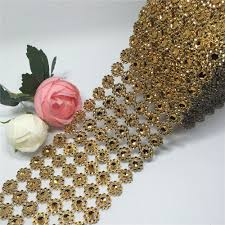 diamond mesh ribbon aliexpress buy diamond mesh trim bling diamond wrap roll