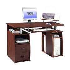 Pedestal Computer Desk Techni Mobili Dual Pedestal Computer Desk Mahogany Bj S