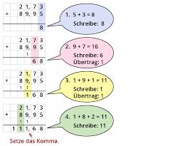 dezimalbrüche runden ᐅ mathe klasse 5 6 dezimalbrüche addieren subtrahieren