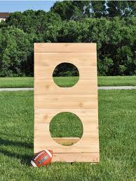 diy football toss outdoor game tutorial