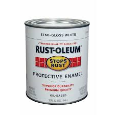 shop rust oleum stops rust white semi gloss oil based enamel