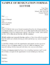 resignation letter how to write a resign letter formal free