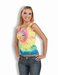 Hippie Halloween Costumes Tie Dye Tank 60 U0027s Hippie Groovy Shirt Dress Halloween