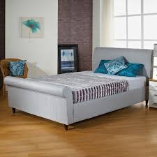 Grey Sleigh Bed Bathroom Grey Low Prices High Quality Upholstered Sleigh Bed