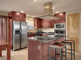 Photos Of Kitchens With Cherry Cabinets Modern Kitchen In Los Gatos High Gloss Finish Cherry Veneer Modern