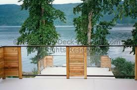 deck railing designs and ideas glass wood aluminum ideas