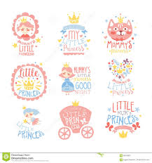 little princess set of prints for infant girls room or clothing
