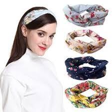 s headbands dreshow 4 pack 1950 s vintage flower headbands for women twist