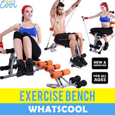 Bench Abs Workout Qoo10 Sit Up Bench Abs Training Ab Rollers Pull Spring Assists