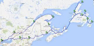 St Lawrence Seaway Map Toronto To Newfoundland The Long Way East Adventure Rider