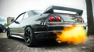 nissan skyline modified nissan skyline r33 flamethrower u0026 anti lag sounds youtube