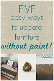 5 ways to update furniture without paint