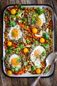 dinner egg recipes easy sheet pan indian spiced chickpeas and eggs this mess is ours