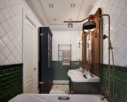 White And Green Bathroom - gorgeous neo classical apartment in gray u0026 beige home interior