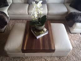 Wood Ottomans Ottoman Wrap Tray Shelf Table Walnut By Kennedywoodworking On Etsy