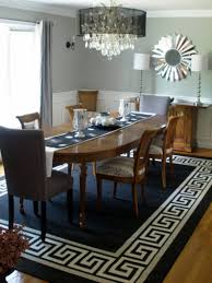 blue dining room rugs soft painted gray finish black stained