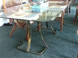 brass glass dining table glass and brass table from 1980s