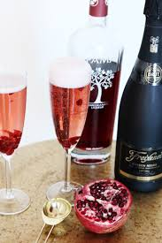 holiday champagne cocktails pomegranate champagne cocktail chanel moving forward
