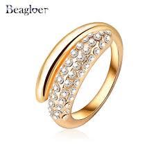aliexpress buy beagloer new arrival ring gold beagloer brand fashion wedding rings gold color austrian