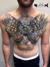 owl cover up http tattooideas247 com owl on chest
