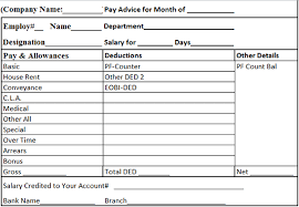 top 5 formats of salary slip templates word templates excel