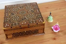 tea box multipurpose box storage box wood inlay art syrian