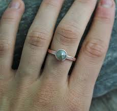 gray ring engagement ring 14k