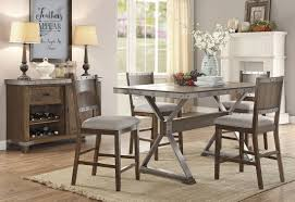 industrial style counter height table set