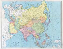 Maps Asia by Large Scale Detailed Old General Map Of Asia 194x Old Maps Of