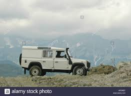 white land rover defender white land rover defender 110 station wagon td5 in the austrian