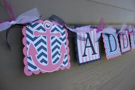 Items Similar To Nautical Anchor - nautical themed party anchor nautical name banner