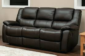 Leather Sofa Atlanta Atlanta 3 Seater Power Recliner Brown Leather Sofa White Reclining