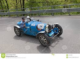 old bugatti bugatti t 35 t in rally mille miglia 201 editorial stock photo