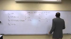 equilibrium partial pressures 007 youtube