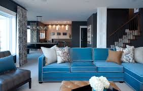 cute color schemes for luxury kitchen and family room combination