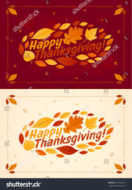 happy thanksgiving card background poster vector stock vector