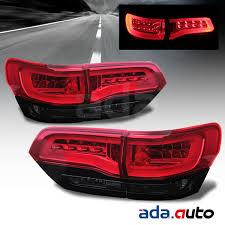 jeep grand cherokee led tail lights 2014 2015 jeep grand cherokee red smoke neon tube led tail lights