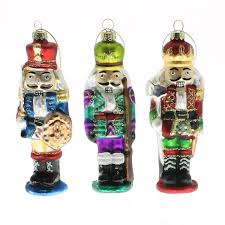 nutcracker glass ornaments set of 3 by homart seven colonial